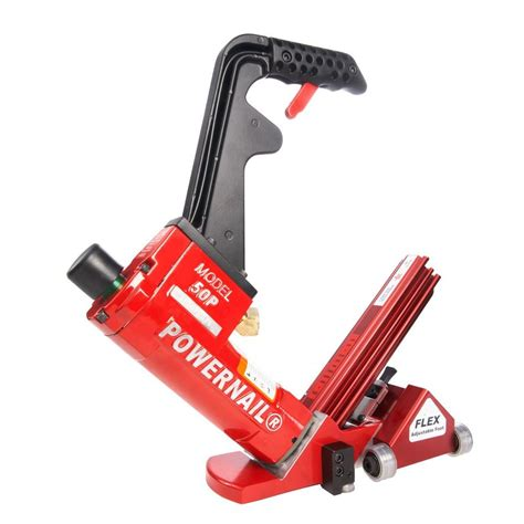 powernail pneumatic 18 gauge flex power roller hardwood flooring cleat nailer 50pflexprw the