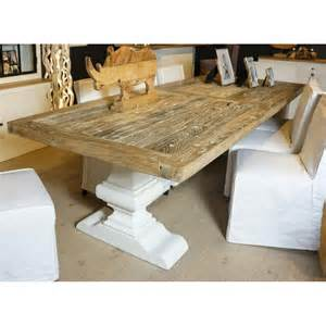 table 224 manger rectangulaire orme et ch 234 ne massif blanchi