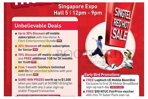 singtel pc show deals