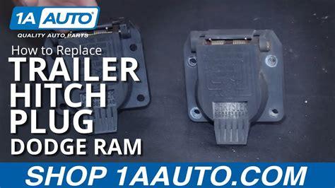 replace trailer hitch plug   dodge ram youtube