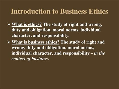 Introduction To Ethics ppt moral issues in business 11 th edition by william h