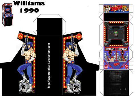 smash tv arcade papercraft by papercrafter1 on deviantart