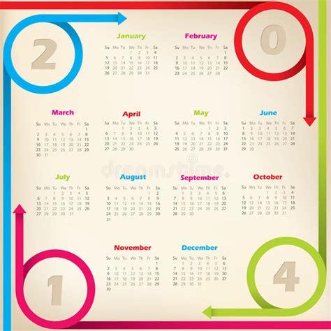 calendar ribbon design cool new 2014 calendar with arrow ribbons stock photos