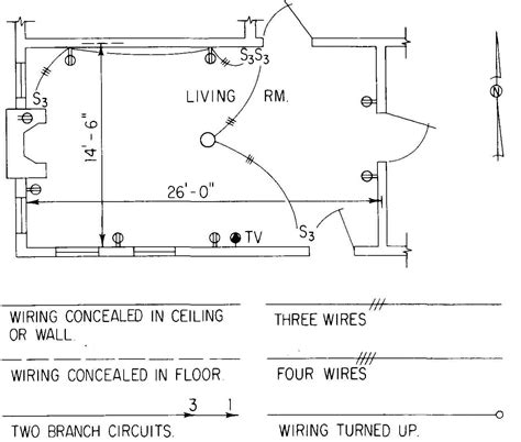 electrical symbols floor plan electrical drawing for architectural plans