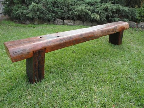 backyard bench seating one red deer made by hand
