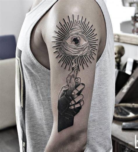 illuminati sleeve tattoo designs 60 mysterious illuminati designs enlighten yourself