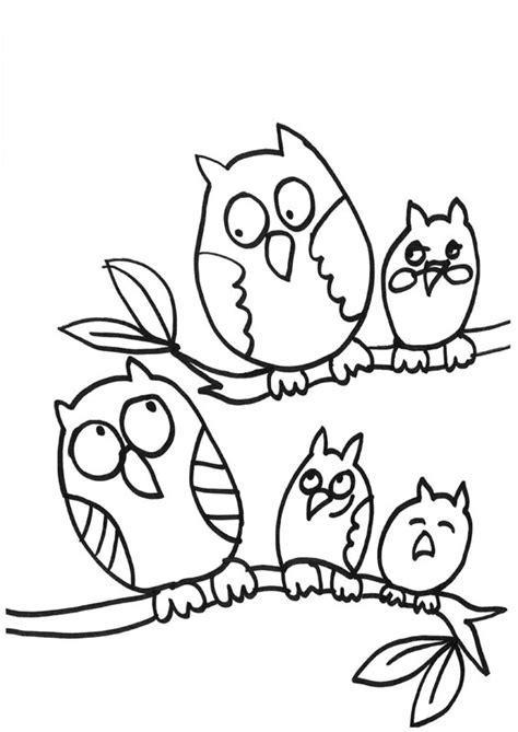 dibujo de buho para colorear familia de b 250 hos dibujo para colorear e imprimir