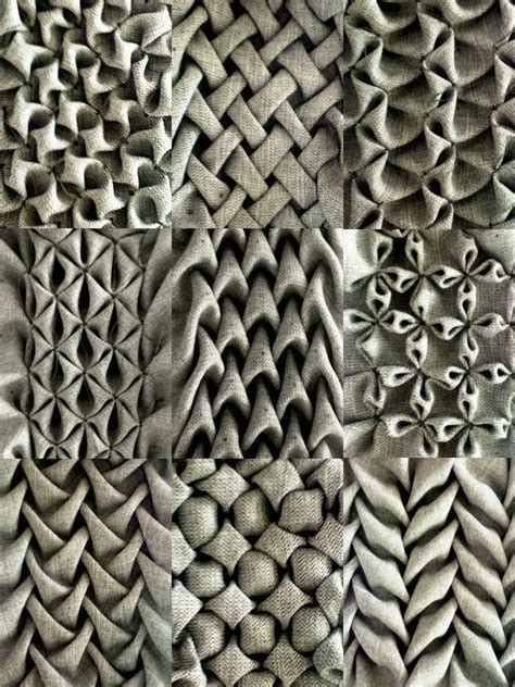 pattern and texture difference love these gorgeous exles of fabric manipulation