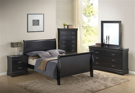louis philippe bedroom set louis philippe black sleigh bedroom set 201071q coaster