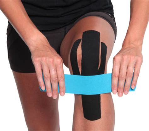 kinesio knie innen 4x kinesio pre cut knee application support