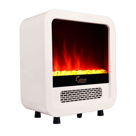compact electric fireplace heater caesar hardware portable mini indoor compact freestanding