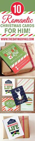 romantic christmas cards for him