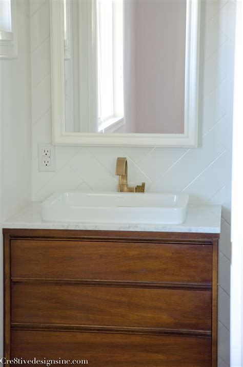 mid century modern bathroom vanity designing a tiny bathroom cre8tive designs inc