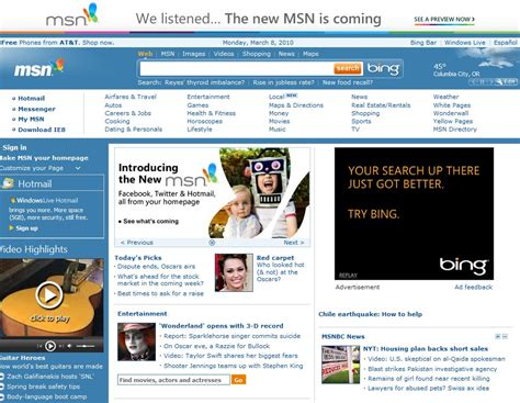 Msn Home by How To Access The Msn Website Ghacks Tech News