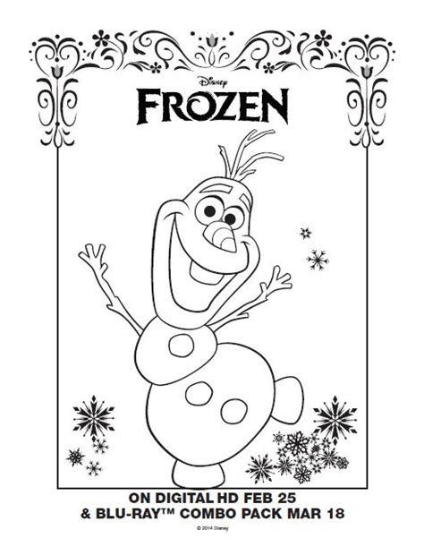 olaf coloring page pdf 149 best images about coloring pages on pinterest