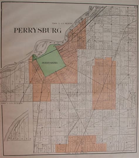 c wood texas map map of perrysburg township wood county ohio c 1912