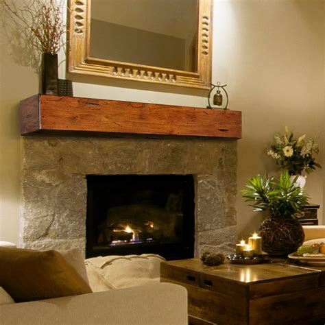 pearl mantels lexington chunky beam fireplace shelf