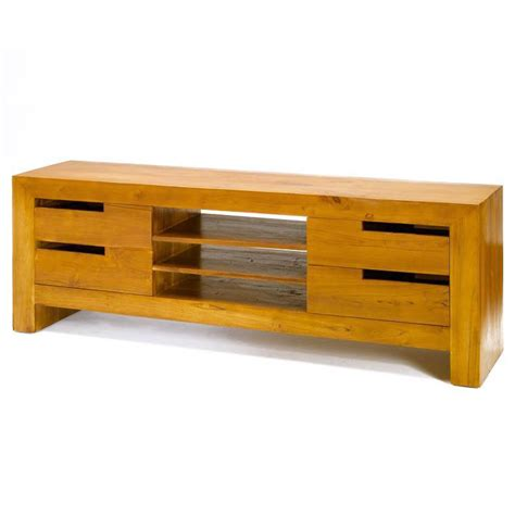 Rak Tv Panjang beli bufet tv 4 laci kayu jati model minimalis ktv 011