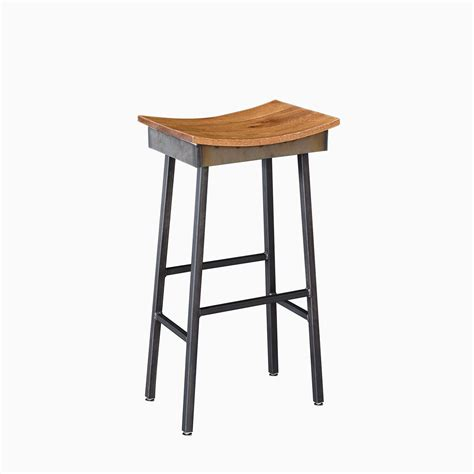 saddle stool buy a custom made industrial modern saddle stool made to