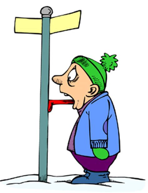 freezing person clipart
