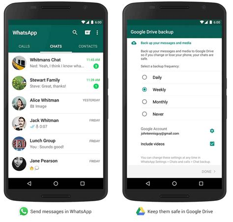 android backup whatsapp for android gaining chat history backup to drive phonedog