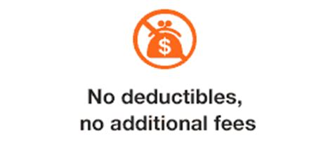 no deductibles no additional fees