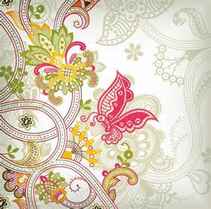 Vintage flower pattern background vector art free vector graphics