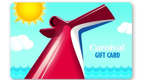 Cruise Gift Card - carnival cruise lines gift cards now available in more than 9 000 locations travelpulse