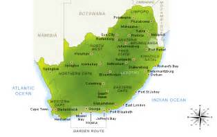 Outline Map Of South Africa With Major Cities by Map Of South Africa By South Africa Channel