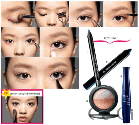 blog tutorial makeup korea yun shock blog natural korean makeup eyes