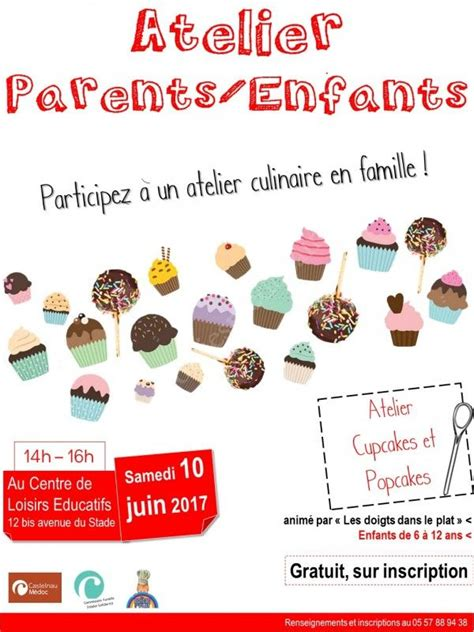 atelier cuisine parent enfant se divertir dans le m 233 doc agenda atelier parents