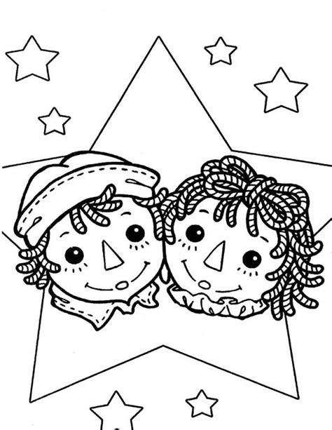 free coloring pages of raggedy ann