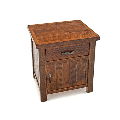 oak night stands bedroom oak haven 1 door 1 drawer nightstand green gables