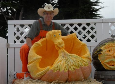 pumpkin artist michael valladao  carved