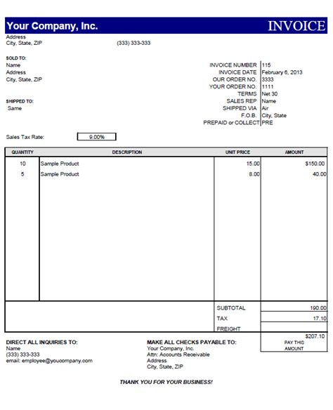 Free Sle Invoice Template Word by 8 Free Invoice Templates Word Excel Pdf Templates