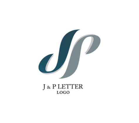 alphabet logo design free download j p letter alphabets inspiration vector logo design