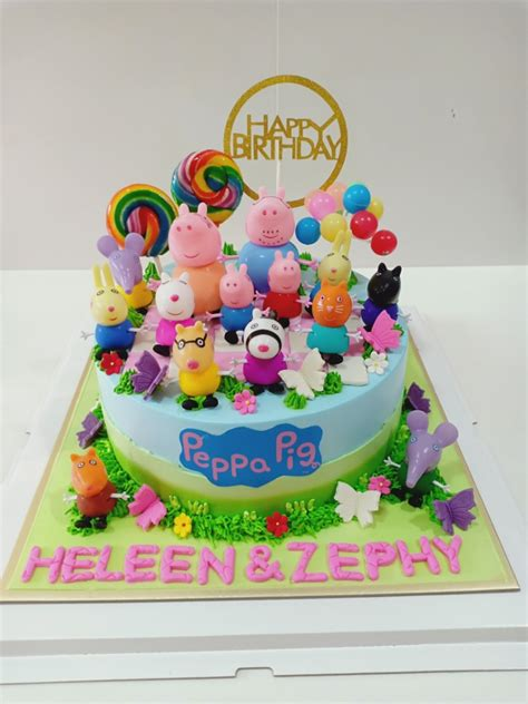 peppa pig birthday cake food drinks baked goods