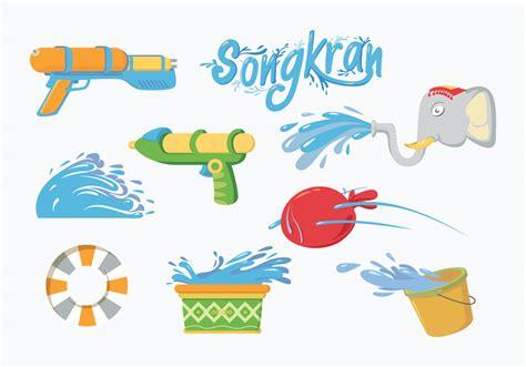 free vector free songkran vector free vector stock
