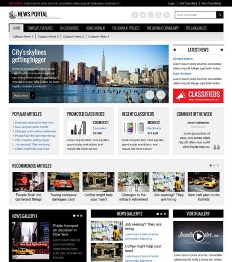 jm news classifieds portal joomla template responsive