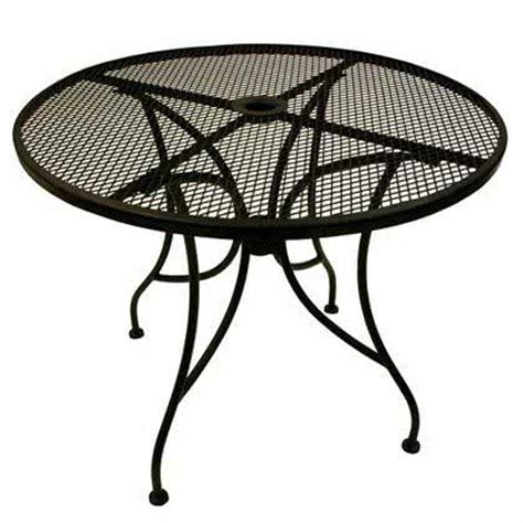 36 Patio Table American Tables Seating Alm36 36 Quot Mesh Top Outdoor Table With Umbrella