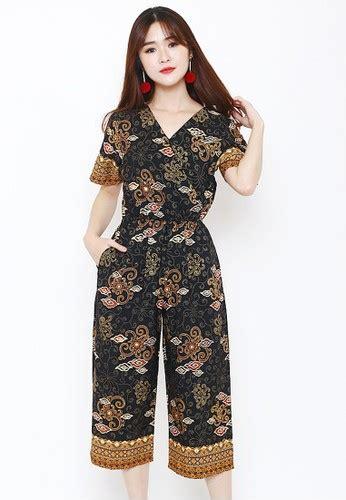 Jumpsuit V Batik 1 jual flike batik batik flike store jumpsuit wanita