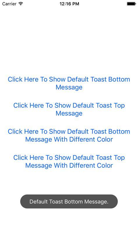 react native ios app tutorial react native custom common toast for both android ios app