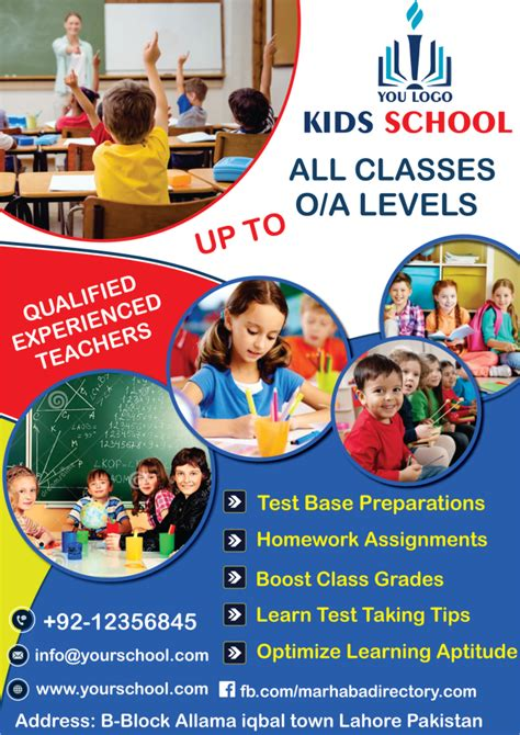 templates for school flyers kids school flyer templates marhaba directory