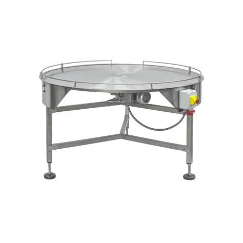 tavoli rotanti tavolo rotante piano con sponde in acciao inox o con