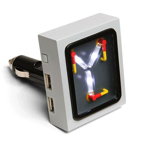 back to the future flux capacitor usb car or wall charger the green
