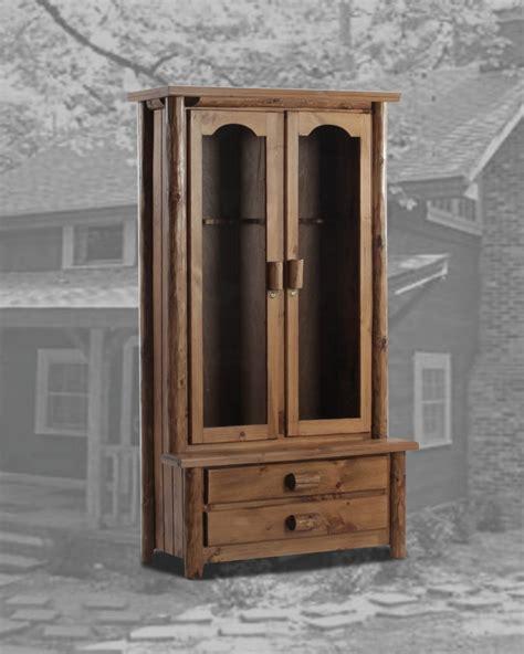 solid wood 6 gun cabinet rustic accent cabinet pecan maple glaze kitchen