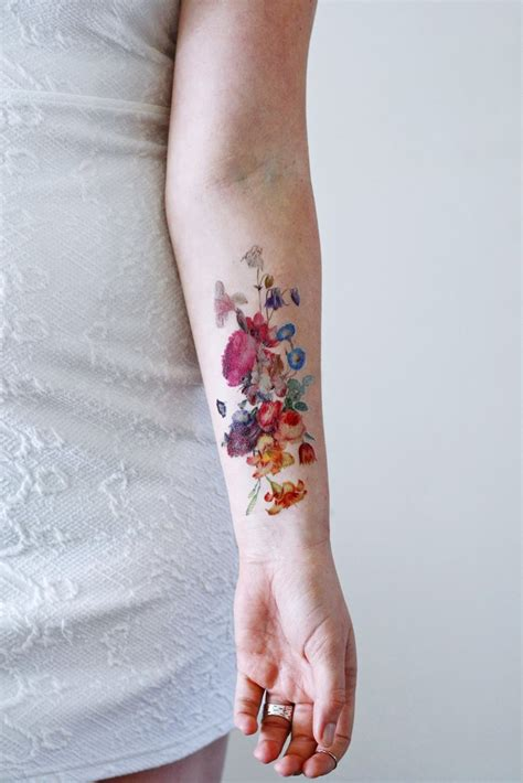 large temporary tattoos beautiful large vintage floral temporary
