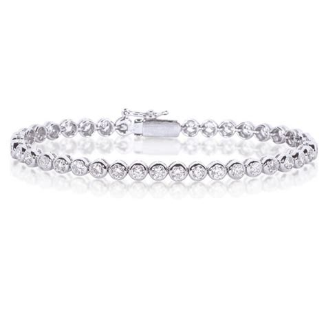 diamond tennis bracelet in 18k white gold 2 blue nile diamond tennis bracelet 2 00ct 18k white gold g si1