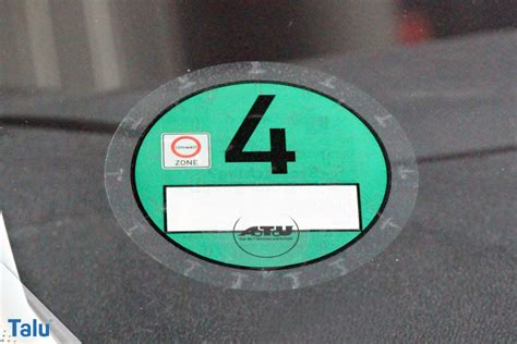 Umweltplakette Auto umweltplakette feinstaubplakette sauber entfernen so
