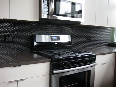Black Glass Tiles For Kitchen Backsplashes Plan Railing